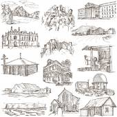 Architecture, Famous places - Full sized illustrations — Stockfoto