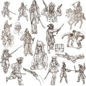Warriors - Full sized hand drawn illustrations — Stock Photo