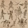 Постер, плакат: Warriors and Sodiers and Heroes vector pack
