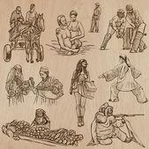 Natives - Hand drawn vectors — Stock Vector