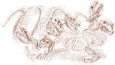 Legendary animals and monsters: HYDRA — Stock Photo