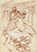 Legendary animals and monsters: MINOTAUR — Stock Photo