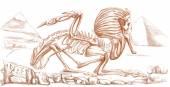 Legendarische dieren en monsters: Sphinx — Stockfoto
