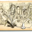 Smoking Hookah (Harem) - An hand drawn full sized illustration — Foto Stock #64707777