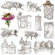 Bees, beekeeping and honey - hand drawn illustrations — Stock Photo #66847317