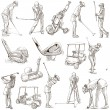 Golf and Golfers - Hand drawn pack — Stock Photo #68090803