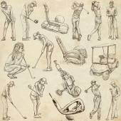 Golf and Golfers - Hand drawn pack — Stock Photo