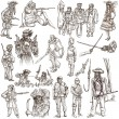 Warriors and Soldiers - Hand drawn pack — Stock Photo #68117951