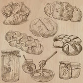 Food - hand drawn vector pack. — Stockvektor