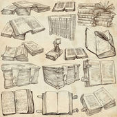 Books. Pack of an hand drawn illustrations — Foto Stock