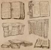 Books. Pack of an hand drawn vectors — Vettoriale Stock