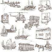 Transport pack - Freehand, Orginal sketches — Stock Photo