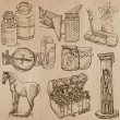 Objects - An hand drawn vectors. Converted — Vecteur #70935209