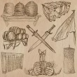 Objects - An hand drawn vectors. Converted — Vecteur #70935223