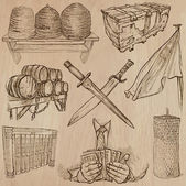 Objects - An hand drawn vectors. Converted — 图库矢量图片