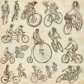 Cycling - Freehand sketches, collection — Stock Photo