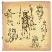People, Natives. An hand drawn vector pack. — Stock vektor