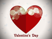 Abstract Vector Heart for Valentines Day Background. — Stock Vector