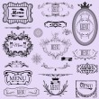 Collection of vector menu calligraphic frames and elements. — Stock Vector #57918991