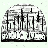 Freedom awaits grungy handdrawn quote poster — 图库矢量图片