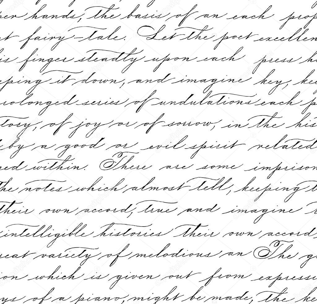 Modèle sans couture avec le texte de l'écriture manuscrite — Image vectorielle amiloslava ...