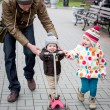 Happy little children with father — Stock Photo #54267705