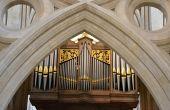 Church organ from Wells — Foto Stock