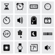 Vector black time icons set — Stock Vector #59202453