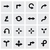 Vector black arrows icon set — Stock Vector