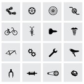 Vector black bicycle icon set — Stock Vector
