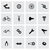 Vector black bicycle icon set — Vector de stock