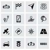 Vector black navigation icon set — Stock Vector