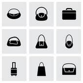 Черный мешок icon Векторный набор — Cтоковый вектор