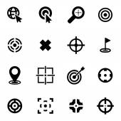 Vector black target icon set — Stock Vector