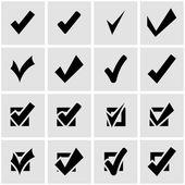 Vector black confirm icon set — Stock Vector