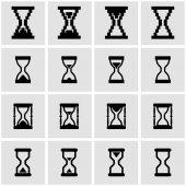 Vector black hourglass icon set — Stock Vector