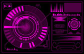 Purple digital interface — Stock Vector