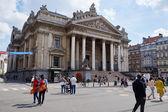 Брюссельская фондовая биржа в городе свободный автомобиль из Брюсселя — Стоковое фото