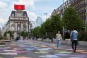 """Brussel """"Place de Brouckere"""" is nu gratis auto — Stockfoto"""