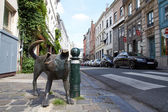 "The bronze sculpture ""Zinneke Pis"" in Brussels — Stock Photo"