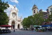 "Brussel ""Place Ste Catherine"" — Stockfoto"