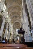 """Binnen de """"Ste Catherine Church""""-Brussel — Stockfoto"""