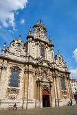 Voorkant van het Begijnhof kerk van Brussel — Stockfoto