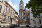 Toren van het Begijnhof kerk van Brussel — Stockfoto