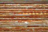 Stack of rusty metal pipes — Stock Photo