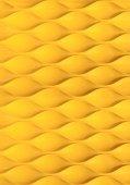 Jaune ondulé texturé ou fond — Photo