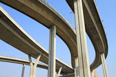 Elevated express way against blue sky background — Stock Photo