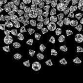 Diamonds 3d composition — Stock Photo
