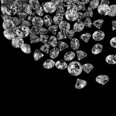Diamonds 3d in composition as concept  — Stock Photo