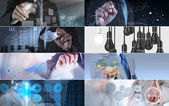 Collage of photo business strategy as concept  — Foto de Stock